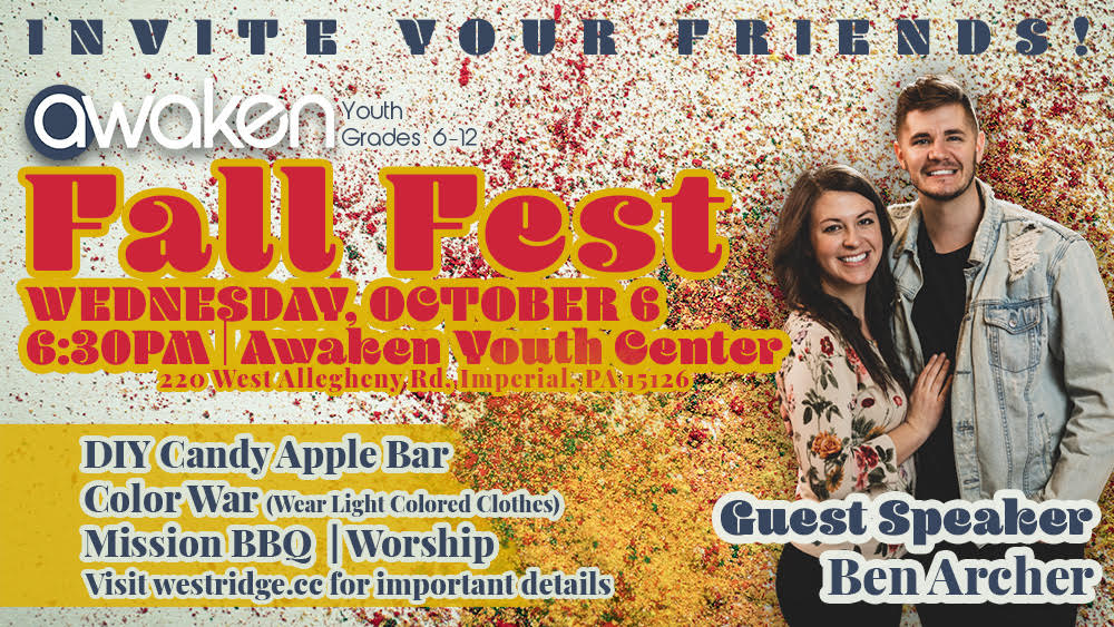 Awaken Fall Fest: A youth ministry event at West Ridge Church
