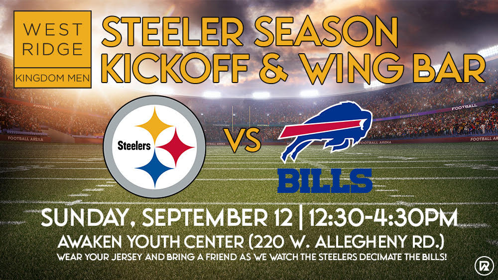Steeler Season Kickoff & Wing Bar: A family-friendly football event of West Ridge Church