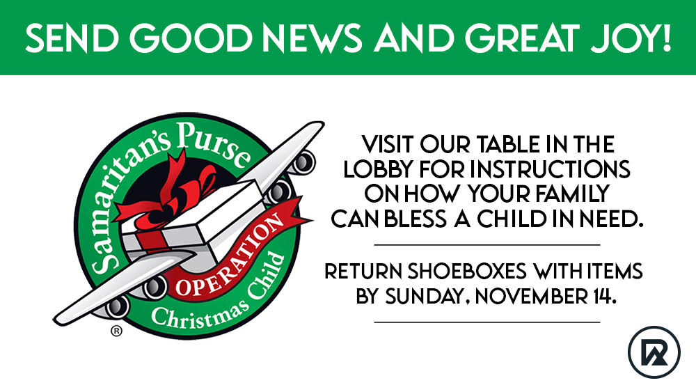 Operation Christmas Child 2021: A Christmas giving opportunity at West Ridge Church